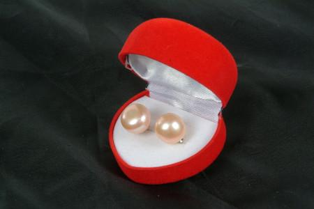 PINK PEARL EARRINGS 10 11MM (PE02PK)