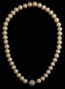 """FRESH WATER PEARL NECKLACE 18"""" WHITE 11 (PN08WH)"""