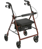 "DRIVE MEDICAL ALUMINUM ROLLATOR WITH 6"" CASTERS (AC5162RD)"