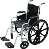 "DRIVE MEDICAL POLY FLY LIGHTWEIGHT WHEELCHAIR 18"" (AC586118)"