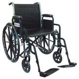 "Drive 16"" Silver Sport 2  Detachable Desk Arm Swing-Away Footrests Wheelchair"