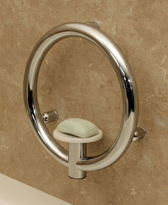Soap Dish with Integrated Support Rail