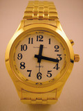 QUANTUM FASHION TALKING WATCH UNISEX GOLD