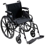 "CRUISER III 16"" FLIP BACK WHEELCHAIR DRIVE MEDICAL"