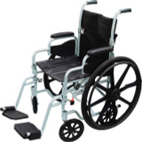 Drive Medical Canada Poly-Fly High Strength, Lightweight Wheelchair/Flyweight Transport Chair Combo
