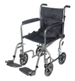 "17"" STEEL TRANSPORT CHAIR DRIVE MEDICAL"