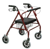 "GO LITE BARIATRIC STEEL ROLLATOR 8"" WHEELS DRIVE MEDICAL AC2142"