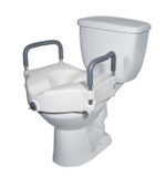 2 IN 1 LOCKING ELEVATED TOILET SEAT WITH REMOVABLE ARMS DRIVE MEDICAL