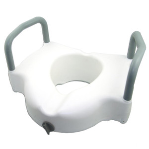 "4"" raised toilet seat with arms"