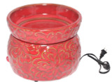 CRIMSON ELECTRIC SIMMERING WAX WARMER