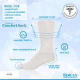 SIMCAN COMFORT DIABETIC SOCKS WHITE