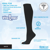 SIMCAN VITALEGS DIABETIC COMPRESSION SOCKS 8 16 MMHG
