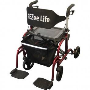 EZEE LIFE FLIP COMBINATION ROLLATOR RED