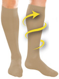 FULL FREEDOM COMPRESSION SOCKS BEIGE 14 20 MMHG