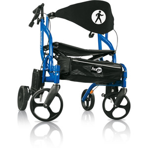 HUGO NAVIGATOR ROLLATOR AND TRANSPORT CHAIR COMBO