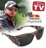 CAMO POLARIZED WRAPAROUNDS SUNGLASSES