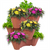 SPACE SAVER STACKABLE PLANTERS  SET OF 3