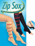 ZIP SOX COMPRESSION SOCKS BLACK LARGE XL