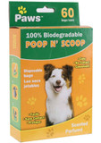 POOP N SCOOP 60PC BAGS BIODEGRADABLE