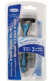 MENS TRIPLE BLADE RAZOR WITH 3 CARTRIDGES