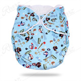 BULK FITTED NIGHTTIME DIAPER BLUE SPORT