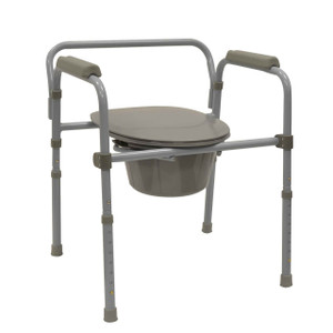 BIOS DELUXE ADJUSTABLE FOLDING COMMODE