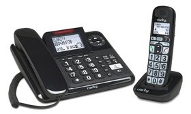 CLARITY AMPLIFIED CORDED AND CORDLESS COMBO WITH ANSWERING MACHINE
