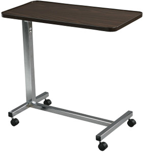 DRIVE MEDICAL NON TILT OVERBED TABLE CHROME