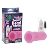 SUE JOHANSONS GLOW IN THE DARK VIBRATING SUPER HEAD HONCHO PINK
