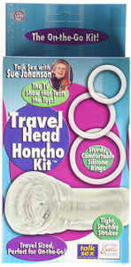 SUE JOHANSONS TRAVEL HEAD HONCHO MASTURBATOR KIT CLEAR