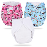 BULK FITTED NIGHTTIME DIAPER HELLO KITTY L/XL