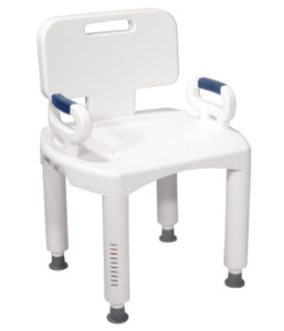 DRIVE MEDICAL PREMIUM BATH SEAT WITH BACK AND ARMS  (AC3960X)