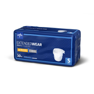 MEDLINE EXTENDED WEAR BRIEFS SMALL CASE (AC5795SC)