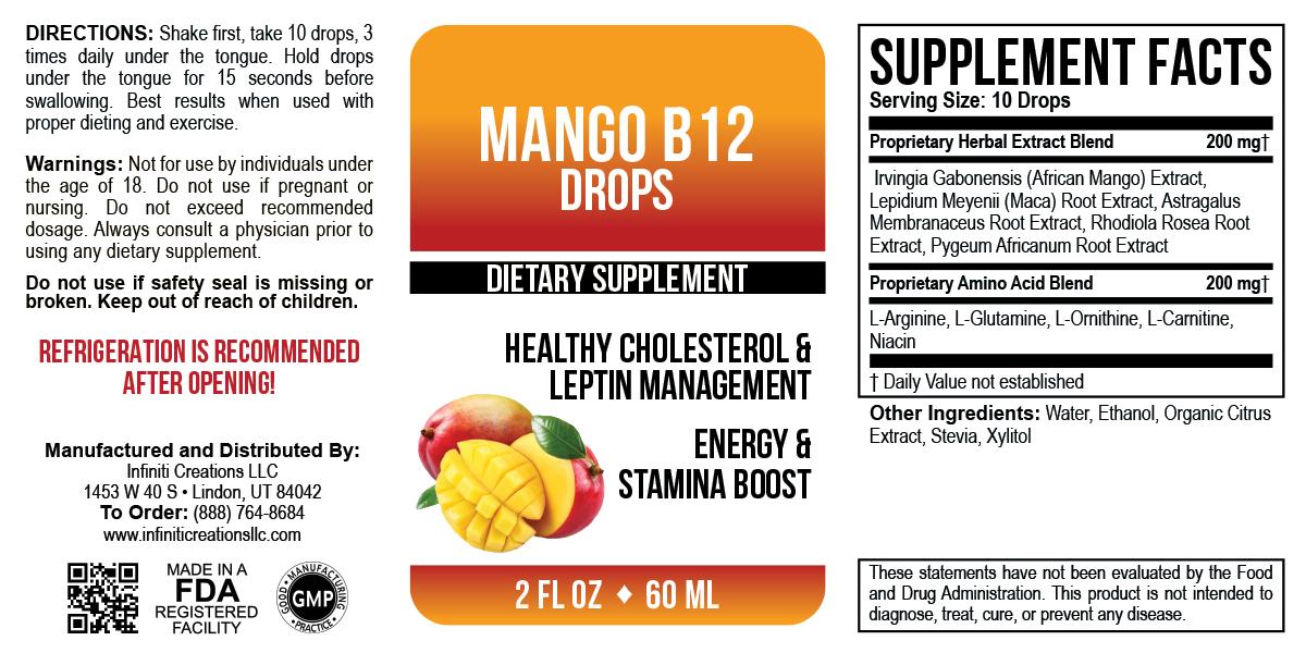 African Mango Drops 2 Fl Oz Infiniti Creations Llc