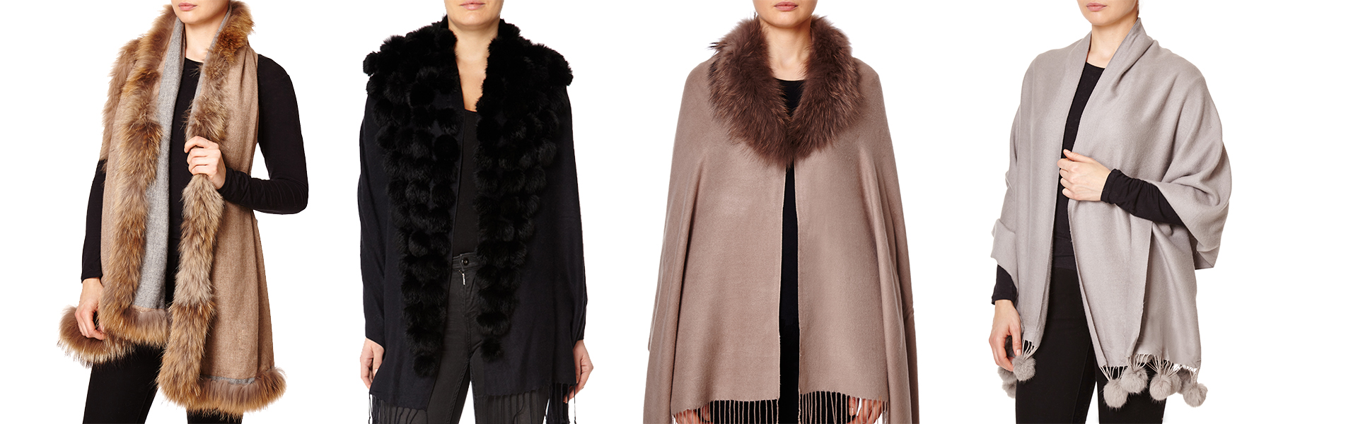 Cashmere & Fox Fur Wraps