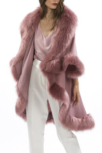 Faux Fur Wrap in Pink KFP23A-06
