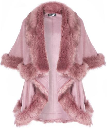Faux Fur Wrap in Pink