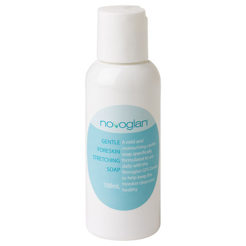 NOVOGLAN-Foreskin-Cleansing-Soap-100ml - NOVOGLAN Soap will remove and prevent smegma and keep your foreskin looking, feeling and smelling super clean. You can use this soap daily and due to it's very sensitive formulation, can be used to treat other skin conditions as well. NOVOGLAN Soap will cure thrush, and many other infections that can make your foreskin or penis red, sore, itchy or even give you a rash.
