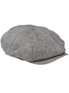 THE BUMPY - 8 Panel Grey baggy cap