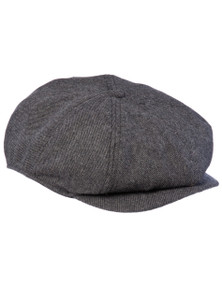THE BUMPY - 8 Panel Dark Grey Baggy Cap