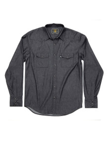 THE DIXON - Black Denim Western Shirt