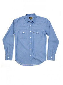 THE DIXON - Blue Denim Western Shirt