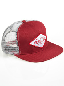 DIAMOND BADGE - Knucklehead Burgundy Cap