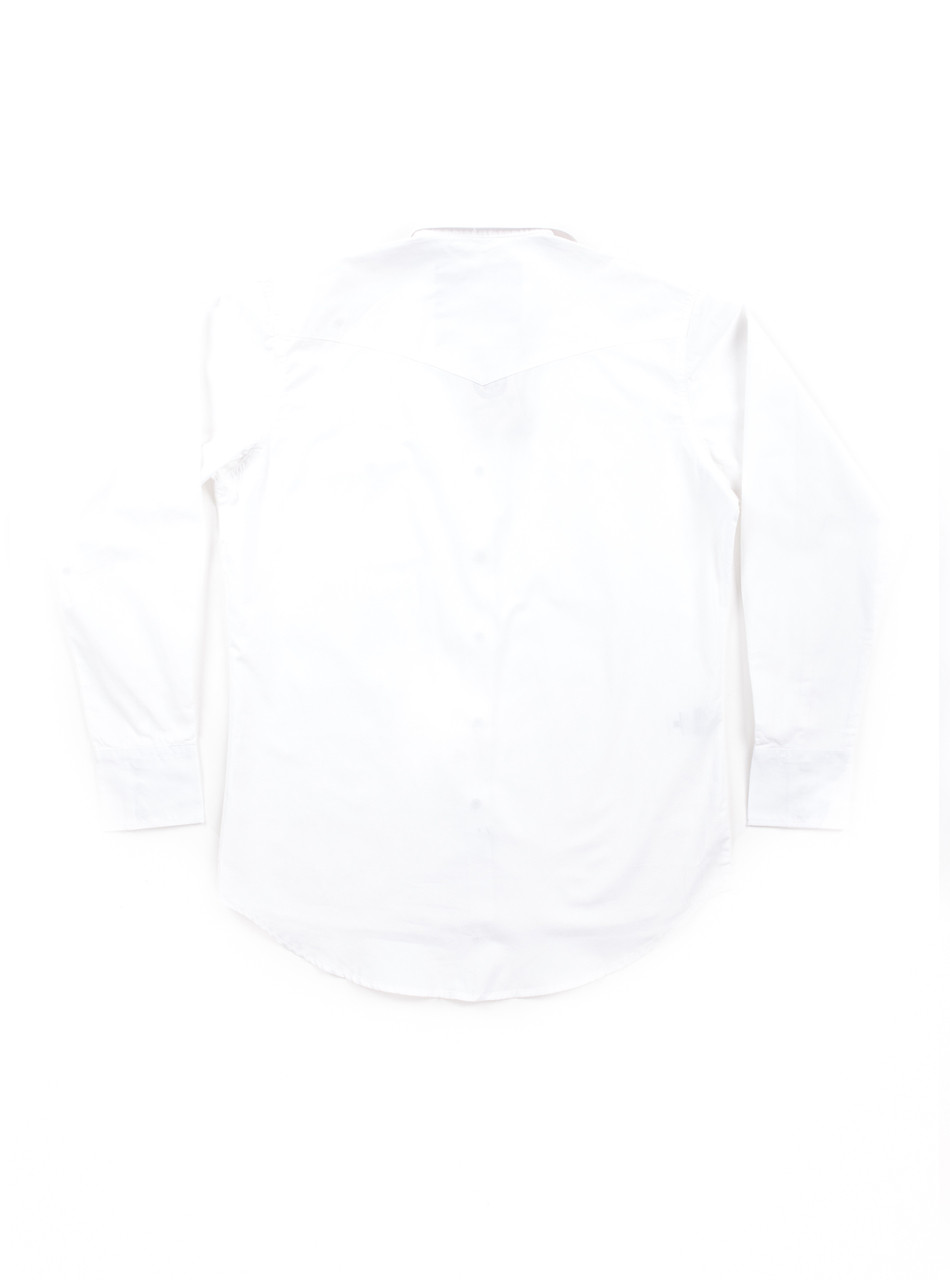 The Dixon v3 - White Cotton with Ivory press studs