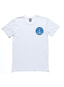 ANGRY SEA TEE - White & Blue