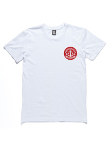ANGRY SEA TEE - White & Red