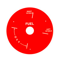 U12709-003RD   UNIVAIR RED FUEL PLATE - FITS PIPER