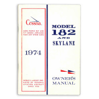 D1021-13   CESSNA 182P OWNERS MANUAL 1974
