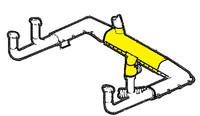 U12226-000   UNIVAIR MUFFLER SHROUD ASSEMBLY - FITS PIPER