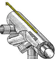 U71261-000   UNIVAIR MUFFLER SHROUD CLIP - FITS PIPER